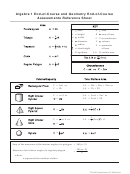 Algebra 1 End-of-course And Geometry End-of-course Assessments Reference Sheet
