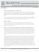 Nurseries, Greenhouses & Florists Sales And Use Tax Guidline - 2004