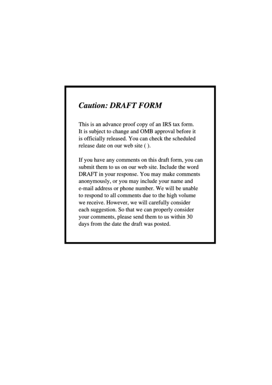 Instructions For Form 1040 - Draft Worksheet(S) And Tables - 2008 Printable pdf