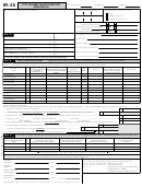 Form Ir-25 - City Income Tax Return For Individuals - 2000