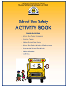 School Bus Safety Kids Activity Sheets