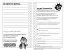 September Clue Sheet