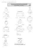 Pre Algebra Geometry Unit Formula Sheet