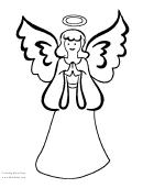 Angel Coloring Sheet