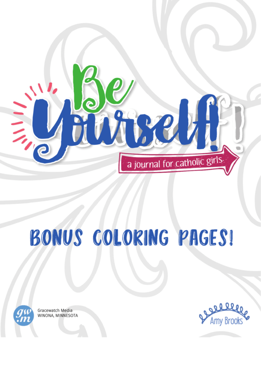 Be Yourself Catholic Coloring Sheets Printable Pdf Download