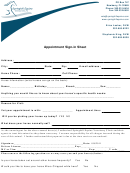 Appointment Sign-in Sheet