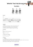 Tom Waits - Whistlin' Past The Graveyard Guitar Chord Chart