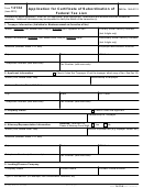 Form 14134 - Application For Certificate Of Subordination Of Federal Tax Lien