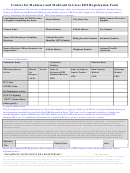 Centers For Medicare And Medicaid Services Edi Registration Form; And Edi Enrollment Form