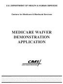 Form Cms-10069 - Medicare Waiver Demonstration Application