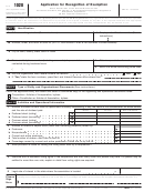 Form 1028 - Application For Recognition Of Exemption Under Section 521 Of The Internal Revenue Code