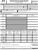 Form 8870 - Information Return For Transfers Associated With Certain Personal Benefit Contracts