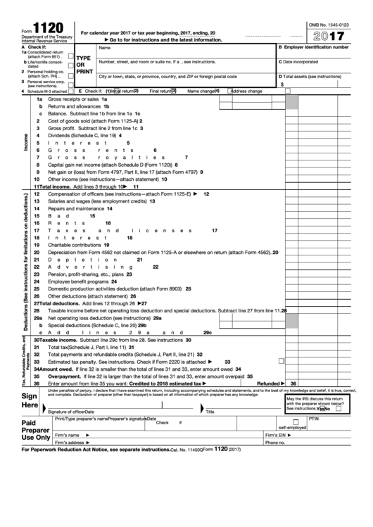 Top 64 Form 1120 Templates Free To Download In Pdf Format