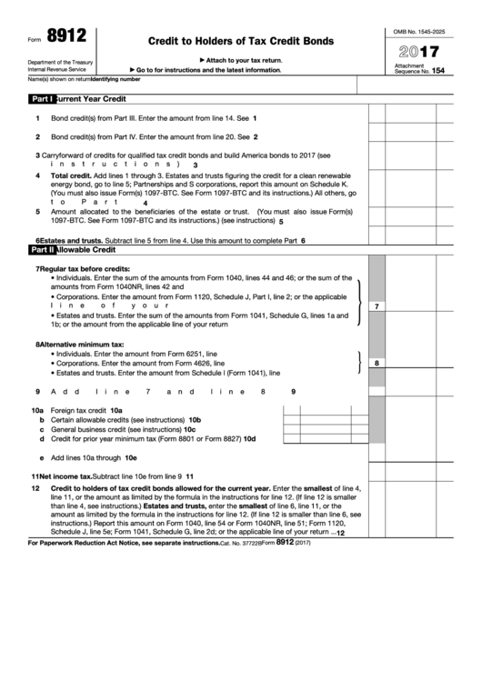 Top 11 Form 8912 Templates Free To Download In Pdf Format