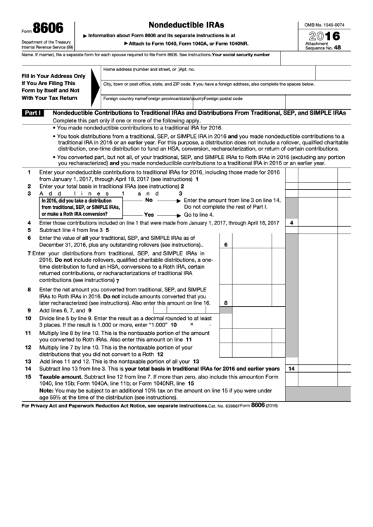 Top 19 Form 8606 Templates Free To Download In Pdf Format