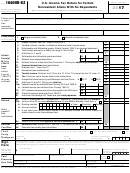 Form 1040-nr-ez - U.s. Income Tax Return For Certain Nonresident Aliens With No Dependents - 2016