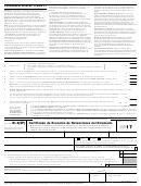 Formulario W-4(sp) - Certificado De Exencion De Retenciones Del Empleado (spanish Version) - 2017