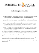 Daily Eating Log Template