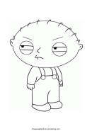 Stewie Griffin Coloring Sheet