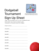 Dodgeball Tournament Sign-up Sheet