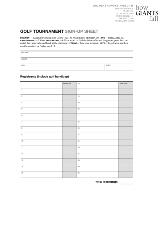 top 7 tournament sign up sheets free to download in pdf format