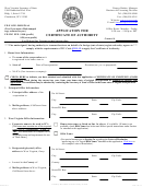 Form Cf-1 - Application For Certificate Of Authority - 2017