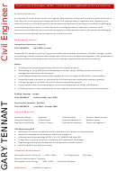 Civil Engineer Cv Template