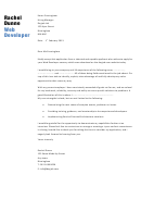 Web Developer Cover Letter Sample - Dayjob - 2013