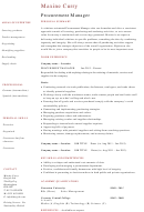Procurement Manager Cv Template