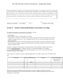2017-2018 Federal Verification Worksheet - Independent Student