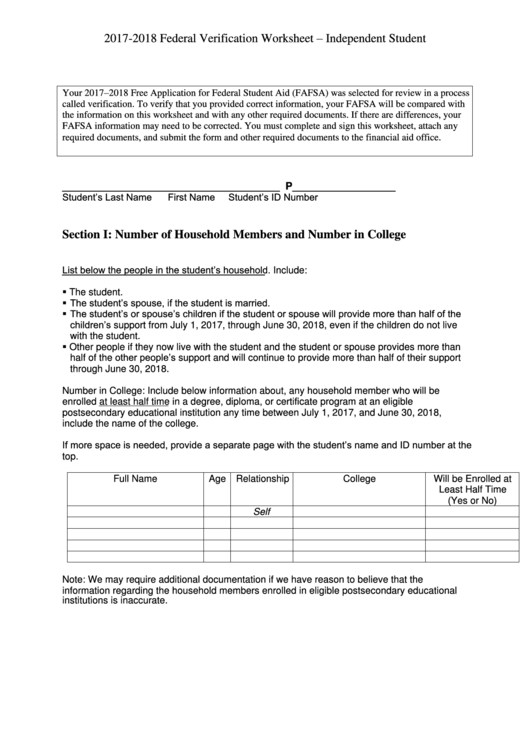 Top 5 Independent Verification Worksheet Templates Free To Download