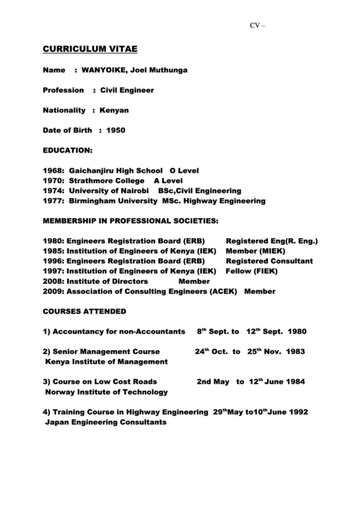 Top 7 Civil Engineering Resume Templates free to download in PDF format