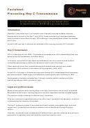 Factsheet - Preventing Hep C Transmission