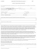 Application For Home/hospital Instruction - 2012