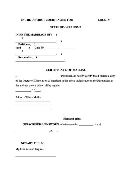 certificate mailing pdf printable template