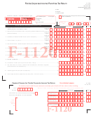 Form F-1120 - Florida Corporate Income/franchise Tax Return