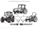 Toy Tractor Coloring Sheet