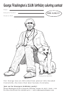George Washington's 200th Birthday Coloring Sheet