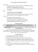 Formal Paper Writing Cheat Sheet