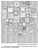 Patterns Coloring Sheet