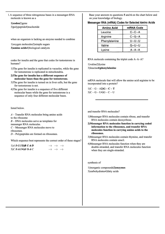 Biology Worksheet With Answers Printable Pdf Download