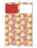 Red Curlicues Bookmark Template