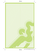 Green Curves Bookmark Template