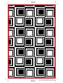 Red Squares Bookmark Template