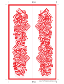 Red Abstract Bookmark Template