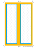 Blue Yellow Border Bookmark Template