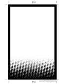 White Gradient Dots Bookmark Template