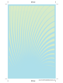 Blue Green Spiral Bookmark Template