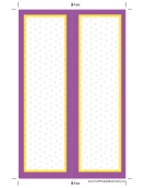 Purple Yellow Border Bookmark Template