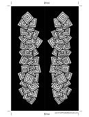 Black White Squares Bookmark Template